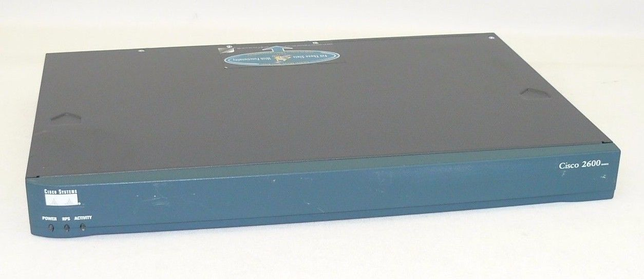 Cisco 2621 2-Port 1U Fast Ethernet 10 100 Wired Ethernet Network Router